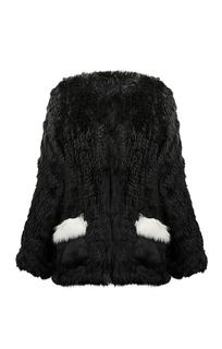 Жакет из вязаного меха кролика Virtuale Fur Collection