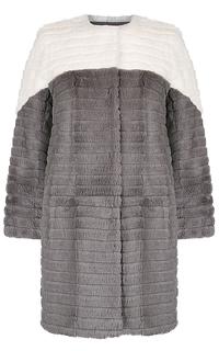 Утепленная шуба из меха кролика Virtuale Fur Collection