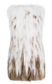 Удлиненный жилет из меха енота Virtuale Fur Collection