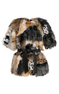 Жакет из натурального меха в технике пэчворк Virtuale Fur Collection