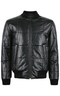 кожаная куртка-бомбер на синтепоне Jorg Weber