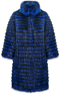 Двусторонняя шуба-пуховик из меха лисы Virtuale Fur Collection