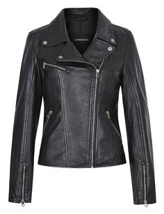 Кожаная куртка-косуха с клёпками La Reine Blanche
