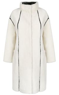 Шуба из овчины с отделкой Virtuale Fur Collection