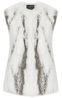 Жилет из вязаного меха овцы и кролика Virtuale Fur Collection