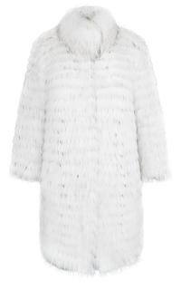 Двусторонняя шуба-пуховик из меха енота Virtuale Fur Collection