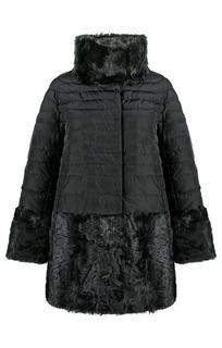 Пуховик, комбинированный мехом козлика Virtuale Fur Collection
