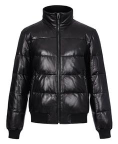утепленная кожаная куртка-бомбер Jorg Weber