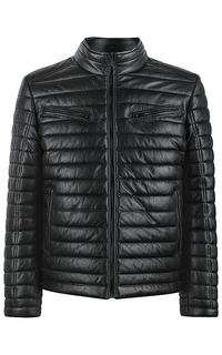 кожаная куртка с утеплителем из синтепона Urban Fashion For Men