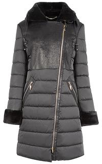 Пальто на синтепоне с мехом Элема