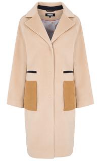 Шерстяное пальто с контрастными деталями Parole by Victoria Andreyanova