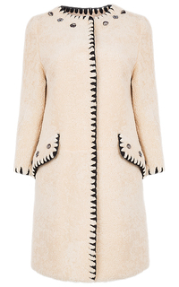 Жакет из овчины с отделкой натуральной кожей Virtuale Fur Collection