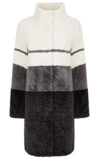 Пальто из овчины с воротником-стойкой Virtuale Fur Collection