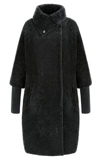 Шуба из овчины со съемными рукавами Virtuale Fur Collection