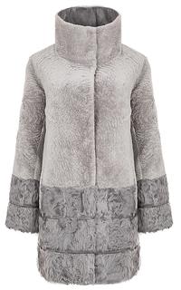 Комбинированный жакет из овчины и меха козлика Virtuale Fur Collection