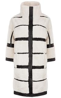 Пальто из овчины с отделкой натуральной кожей Virtuale Fur Collection