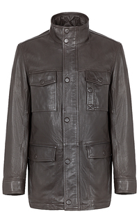 куртка из натуральной кожи на синтепоне Jorg Weber