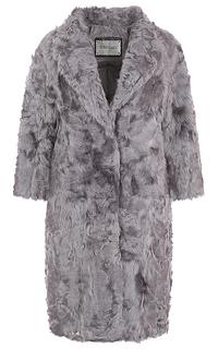 Пальто из меха козлика, утепленное синтепоном Virtuale Fur Collection