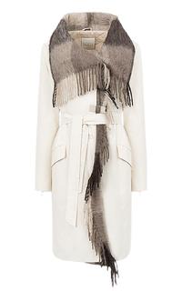 утепленное полушерстяное пальто Violanti