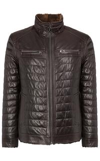 зимняя куртка из натуральной кожи Jorg Weber