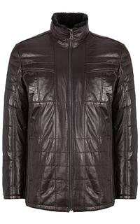 кожаная куртка, утепленная овчиной Jorg Weber