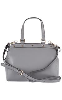 сумка из натуральной кожи с клепками La Reine Blanche