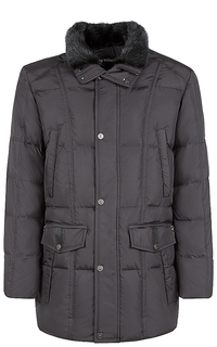 куртка на натуральном пуху с мехом норки Al Franco