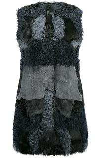 Жилет из овчины и меха кролика Virtuale Fur Collection