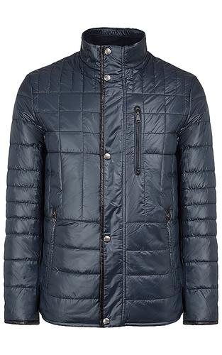 утепленная куртка с отделкой из экокожи