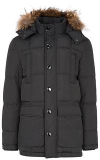 Куртка на натуральном пуху с отделкой мехом енота Al Franco