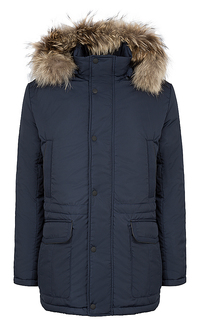 утепленная куртка с отделкой мехом енота Al Franco
