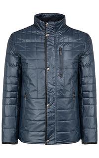 утепленная куртка с отделкой из экокожи Al Franco