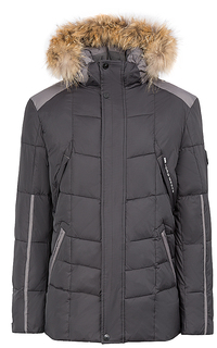 утепленная куртка с мехом енота Jorg Weber