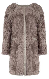 Шуба из меха козлика, утепленная синтепоном Virtuale Fur Collection
