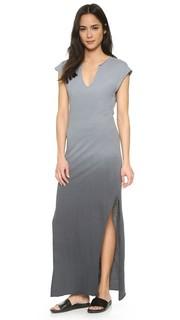 Макси-платье с короткими рукавами и V-образным вырезом LNA