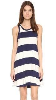 Оборчатое платье с полосками в стиле регби Sol Angeles