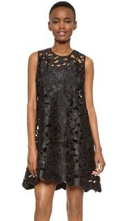 Платье-трапеция из цветочного кружева Cynthia Rowley