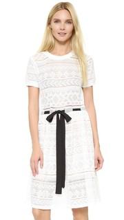 Кружевное платье с завязками English Factory