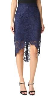Асимметричная кружевная юбка Wayf