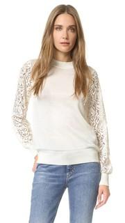 Пуловер с кружевными рукавами Clu