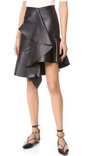 Кожаная юбка Rochas