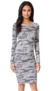 Камуфляжное платье с длинными рукавами Monrow