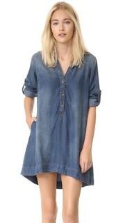 Платье-трапеция из ткани шамбре Bella Dahl