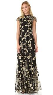 Вечернее платье с вышивкой Aaliyah Alice + Olivia
