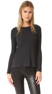 Меланжевый пуловер в рубчик Enza Costa