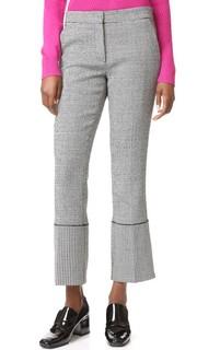Узкие брюки с широкими манжетами Derek Lam
