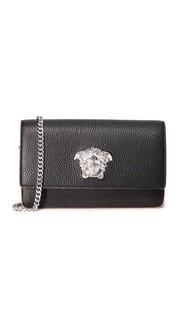 Маленькая кожаная сумка Versace