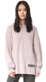 Пуловер с округлым вырезом и вышивкой Alexander Wang