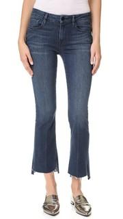 Короткие буткат-джинсы Le Crop Stagger с необработанными краями Frame