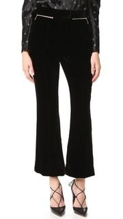 Расклешенные бархатные брюки Nina Ricci